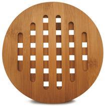 Descanso De Panelas 20 Cm De Bambu Tyft Marca Yoi Sousplat -