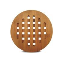 Descanso de panelas e travessas redondo em bambu 20cm - Tyft