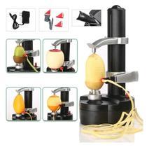 Descascador eletrico automatico cortador com fonte maquina para laranja batatas frutas e legumes - Makeda