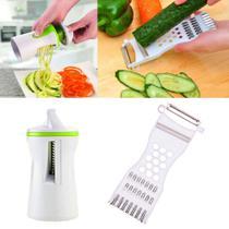 Descascador Fatiador Ralador de Legumes kit Apontador e Descascador 3 em 1 - Fratelli