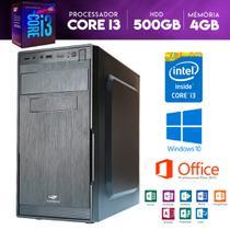 Descktop CPU Intel Core i3 500GB HDD 4GB Memória - Yes shop