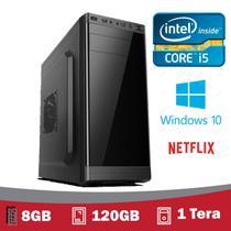 Desktop 5TechPC Intel Core I5 3.2Ghz, 8GB, SSD 120GB + HD 1 Tera, Hdmi Fullhd, Windows 10 Pro -
