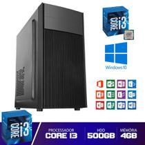 Desktop Cpu Core I3 4gb HD 500GB Com Hdmi Pyx One -