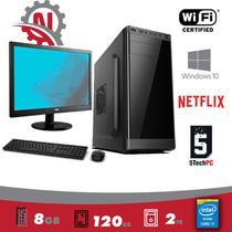 """Desktop+ Monitor 15,4"""" + Mouse e Teclado 5TechPC Intel Core I5 /16GB / SSD 120gb / HD 2 TB / Hdmi FullHD Windows 10 Pro -"""