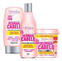 Desmaia Cabelo Forever Liss Shampoo + Cond + Máscara 350g -