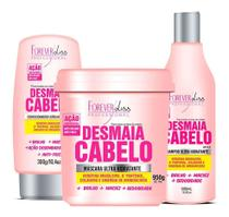 Desmaia Cabelo Forever Liss Shampoo + Cond + Máscara 950g -