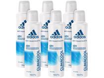 Desodorante Aerosol Antitranspirante Feminino - Adidas Climacool 150ml 6 Unidades