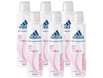 Desodorante Aerosol Antitranspirante Feminino - Adidas Control Cool  Care 150ml 6 Unidades