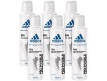 Desodorante Aerosol Antitranspirante Feminino - Adidas Pro Invisible 150ml 6 Unidades
