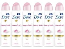 Desodorante Aerosol Antitranspirante Feminino - Dove Beauty Finish 150ml Cada 6 Unidades