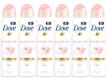 Desodorante Aerosol Antitranspirante Feminino - Dove Powder Soft 150ml Cada 6 Unidades