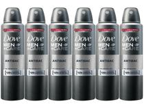 Desodorante Aerosol Antitranspirante Masculino - Dove Men+Care Antibac 150ml Cada 6 Unidades