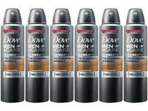 Desodorante Aerosol Antitranspirante Masculino - Dove Men+Care Talco Mineral e Sândalo 150ml 6 Unid
