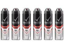 Desodorante Aerosol Antitranspirante Masculino - Rexona Antibacterial Protection 150ml 6 Unidades