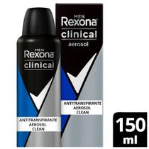 Desodorante Aerosol Rexona Clinical Clean Men 91g