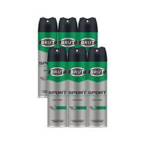 Desodorante Aerosol Sport Men Brut 150ml Kit 6un - Não Informada