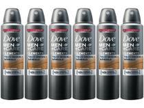 Desodorante Aerossol Antitranspirante Masculino - Dove Men+Care Talco Mineral e Sândalo 150ml 6 Unid