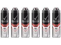 Desodorante Aerossol Antitranspirante Masculino - Rexona Antibacterial Protection 150ml 6 Unidades