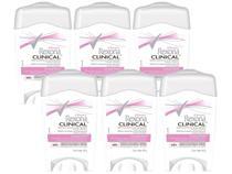 Desodorante Antitranspirante Feminino Rexona - Clinical 6 Unidades de 48g cada