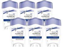 Desodorante Antitranspirante Masculino Rexona - Clinical 6 Unidades de 48g cada
