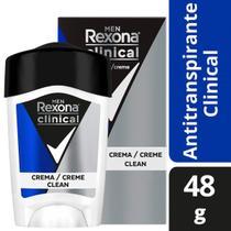 Desodorante Antitranspirante Rexona Clinical Azul Masculino 48g -