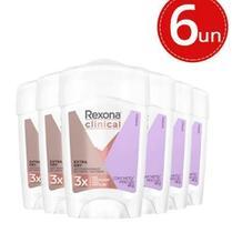 Desodorante Clinical Rexona em creme 48g  6 unidades -