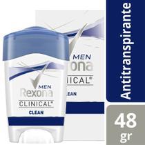 Desodorante Creme Rexona Masculino Clinical 48g -