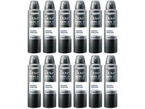 Desodorante Dove Aerosol Antitranspirante - Masculino sem Perfume 12 Unidades Kit Black Friday
