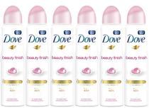 Desodorante Dove Beauty Finish Aerossol - Antitranspirante Feminino 150ml 6 Unidades