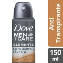 Desodorante Dove Men + Care Aerosol Antitranspirante Talco Mineral e Sândalo 150ml