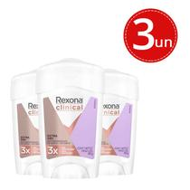 Desodorante Stick Rexona Clinical Women Extra Dry 45g - 3 Unidades