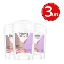 Desodorante Stick Rexona Clinical Women Extra Dry 48g - 3 unidades -