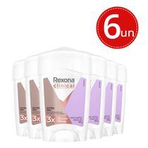 Desodorante Stick Rexona Clinical Women Extra Dry - 6 Unidades -