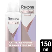Desodorantes Antitranspirante Rexona Clinical Aerosol Extra Dry 150ml