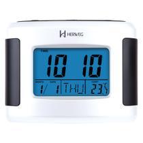 Despertador Digital Branco Luz de Led Termômetro Herweg 2979-21 -