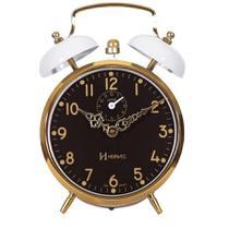 Despertador Mecânico Herweg Ref: 2234-021 Branco Com Dourado -
