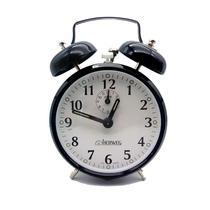 Despertador Relógio Antigo A Corda Campainha Retrô Aço preto - Herweg