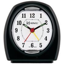 Despertador Relógio Herweg Oval Preto - 2633 034 -
