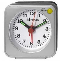 Despertador Relógio Silencioso Herweg Prata - 2510 070 -