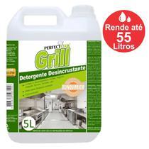 Detergente Alcalino Desincrustante Limpa Chapas e Fogões Industriais Perfect Cook Grill Gl c/ 5 L. Faz até 55 Litros - SUNQUIMICA