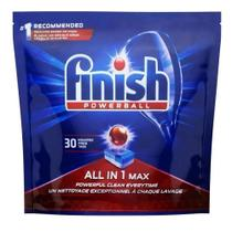 Detergente Lava Loucas Powerball em Tablete 16,3g cada 30 UN Finish -