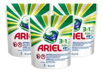 Detergente Lava Roupas Ariel 3em1 Pods - 16 Cápsulas - 3 Un -