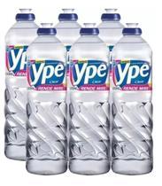 Detergente Líquido Ypê 500ml Clear - Kit Com 6 Unidades - Ype