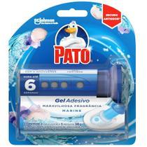 Detergente Sanitário Pato Gel Adesivo com Aplicador Marine 38g -