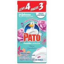 Detergente Sanitário Pato Pastilha Adesiva Flores Encantadas Leve 4 Pague 3 Unidades Edição Limitada -