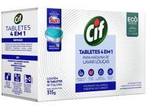 Detergente Tablete Lava-Louças Cif - Tabletes 4 em 1 315g -