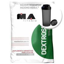 Dextrose - 1000g Natural + Coqueteleira 600ml Preta - Max Titanium -