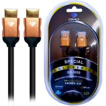 Diamond Cable GS-3020 1.8 Metros - Cabo HDMI 2.0 High Speed com Ethernet 18Gbps 3D 4K ARC Unidade - DMD