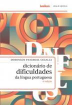 DICIONARIO DE DIFICULDADES DA LINGUA PORTUGUESA - 4a ED - 2018 - Lexikon