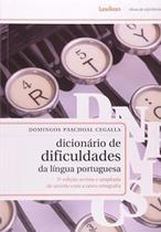 Dicionario de Dificuldades da Lingua Portuguesa - Lexikon -